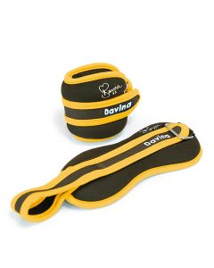 Davina McCall Ankle Weights 2 x 1.25 kg - yellow