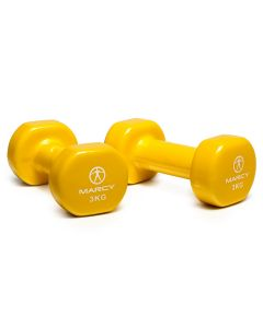Marcy Tone Vinyl Dipped Dumbbell - 2 x 3kg
