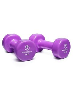 Marcy Tone Vinyl Dipped Dumbbell - 2 x 4kg