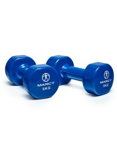 Marcy Tone Vinyl Dipped Dumbbell - 2 x 5kg