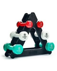 Marcy Tone Vinyl Dumbbell Set with Triangle Stand - 6kg Set
