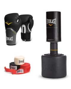 Everlast Free Standing Punch Bag Boxing Set with Gloves & Hand-Wraps
