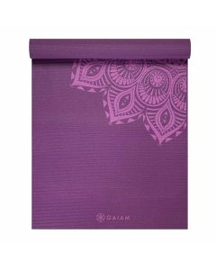 gaiam purple mandala yoga mat