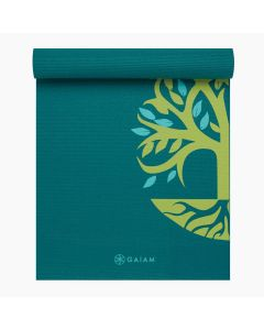 gaiam root to rise yoga mat