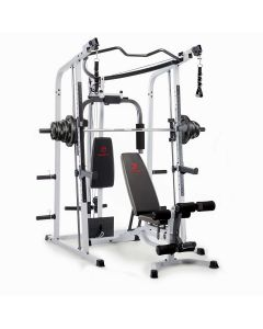Marcy MD-5191 Smith machine Home Gym with Weight Bench and 120 kg Eco Weight Plates