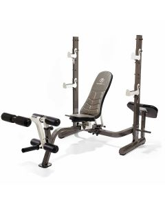 Marcy MWB-70205 Folding Olympic Weight Bench with Rear Squat Rack