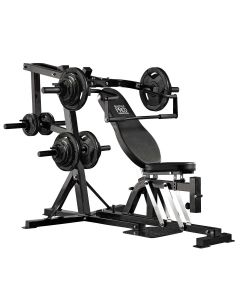 Marcy Pro PM4400 Leverage Bench Home Gym with 170 kg Eco Weight Plates Set