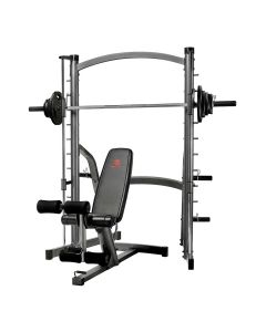 Marcy SM1000 Deluxe Smith Machine with Weight Bench & 80 kg Eco Weight Plates Set