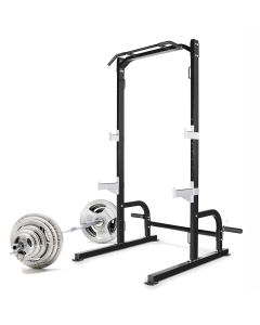 Marcy SM-8117 Olympic Squat Rack with 100kg Weight Set