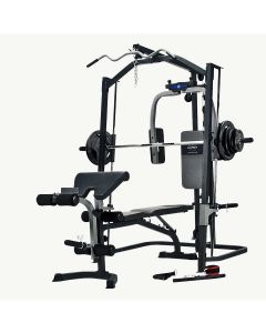 Marcy MP3100 Smith Machine Home Gym with Weight Bench & 80 kg Eco Weight Plates Set