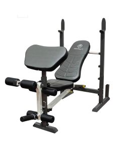 Marcy MWB-20100 Folding Compact Weight Bench with Upright barbell catches