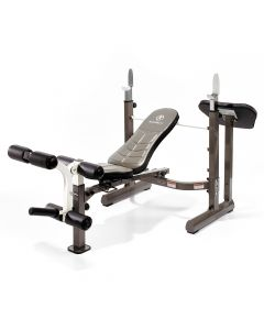 Marcy MWB-50100 Folding Mid-Width Weight Bench with Rack