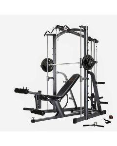 Marcy MWB-1282 Smith Machine Home Gym with Weight Bench & 80 kg Eco Weight Plates Set