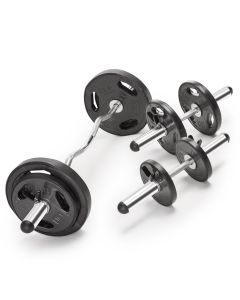 Marcy ODC21 Olympic Curl Bar and Dumbbell Handle Set