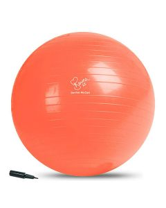 Davina McCall Gym Ball with Pump, available in blue, yellow or Orange & in size 65 cm or 75 cm diameter.