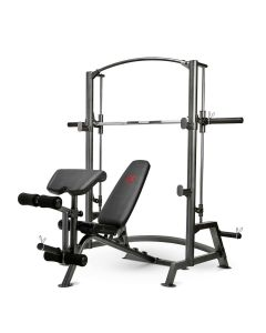 Marcy Diamond Elite Home Gym Smith Machine with Weight Bench