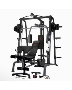 Marcy SM4000 Smith Machine with Weight Bench & 120 kg Eco Wight Plates Set