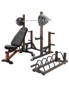 steelbody squat rack stb 70105 with weight bench weight set and storage