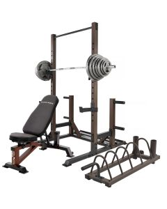 steelbody stb-98010 power rack with weight bench weight set and storage