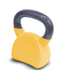 Davina cast Iron Kettlebells picture showing the yellow Kettlebell of 10 kg