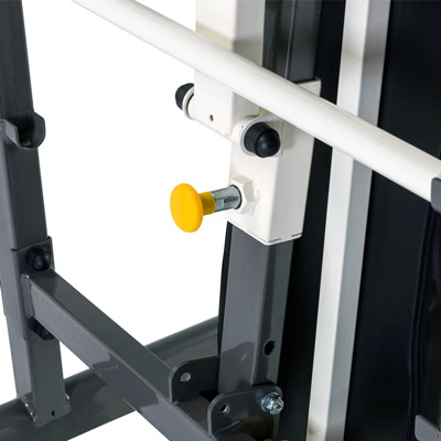 Quick release secure locking pin folds in seconds