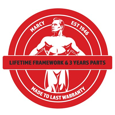 Marcy Lifetime Framework and 3 Years Parts warranty