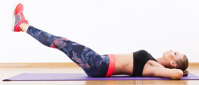 Woman showing leg raises