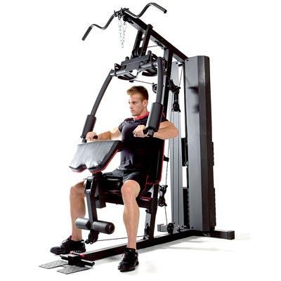 person performing chest press