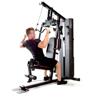 person performing lat pulldown