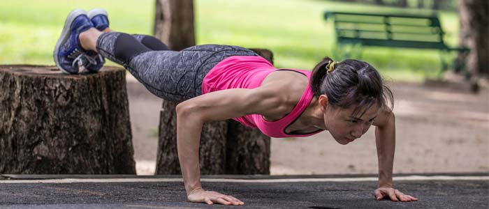 Person doing push-up