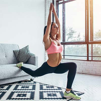 person training in living room