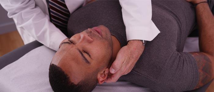 a person having a neck massage