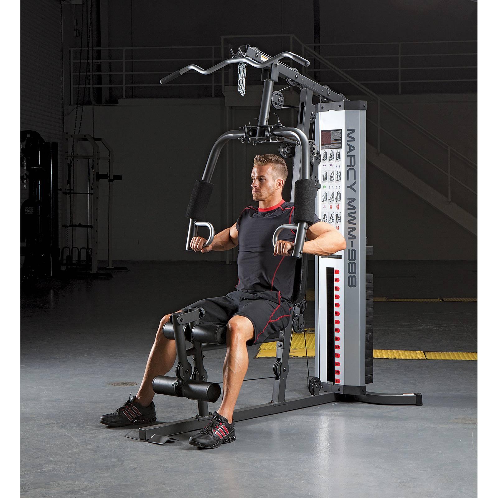 Man doing a multi gym workout