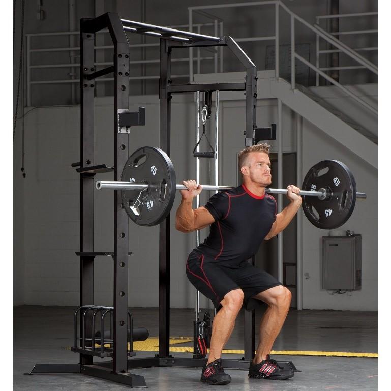 person performing a squat