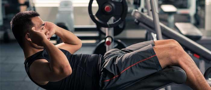 decline weight bench sit ups