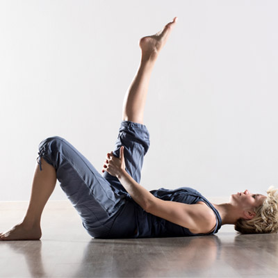 Person stretching their hamstring