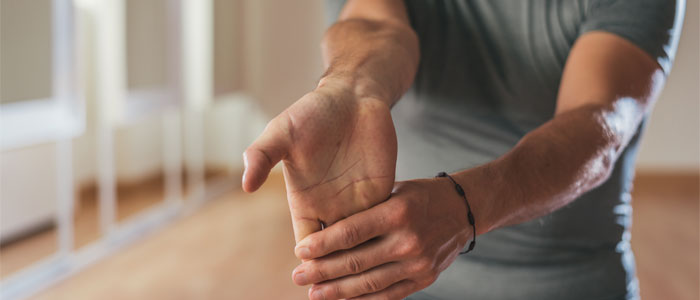 An elbow stretch example