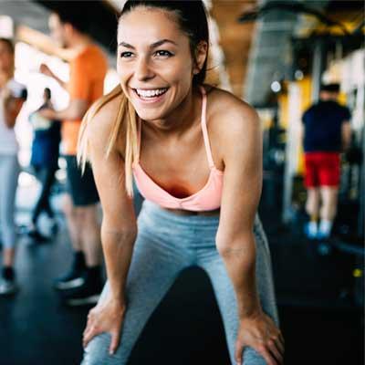 happy person exercising