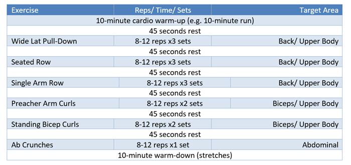 6 Week Beginners Multi Gym Workout Plan Exercise Co Uk