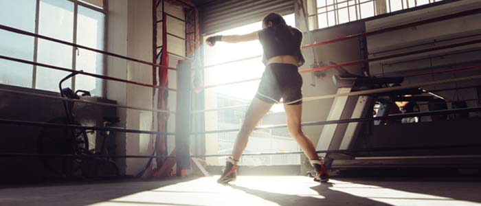 woman in a boxing ring