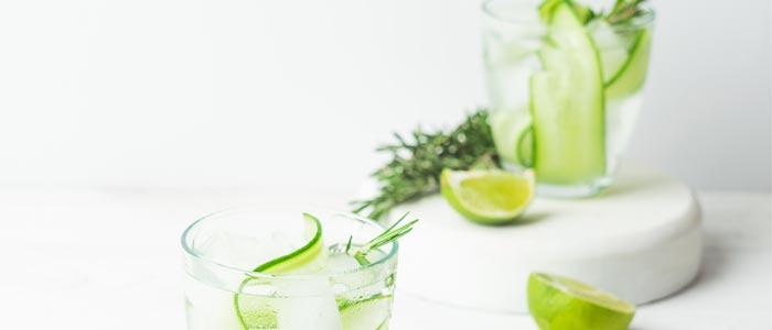 Close up shot of fruit water