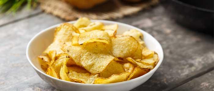 Close up of crisps