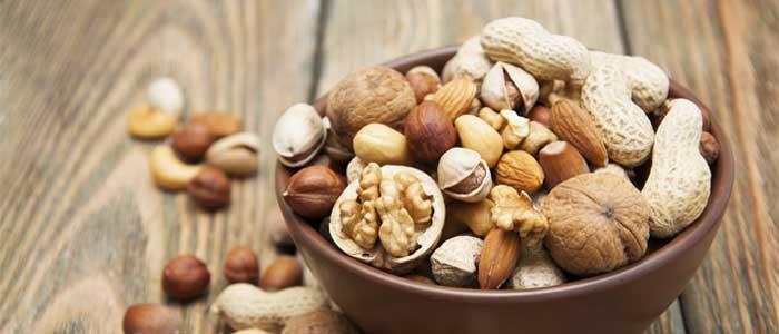 close up of nut bowl
