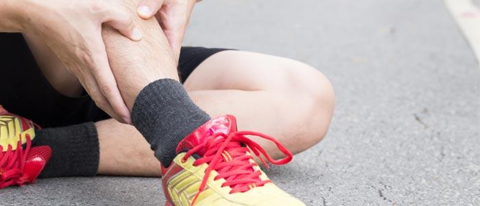 Man dealing with shin splints