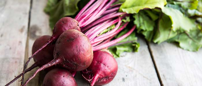 Pile of beetroots