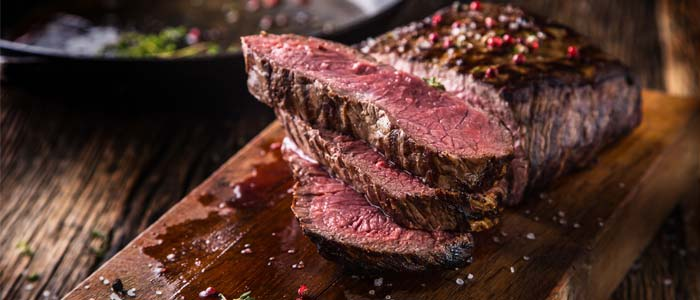 cooked beef joint