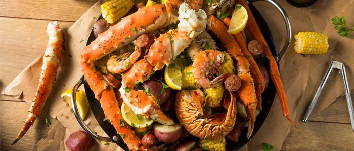 plate of shellfish