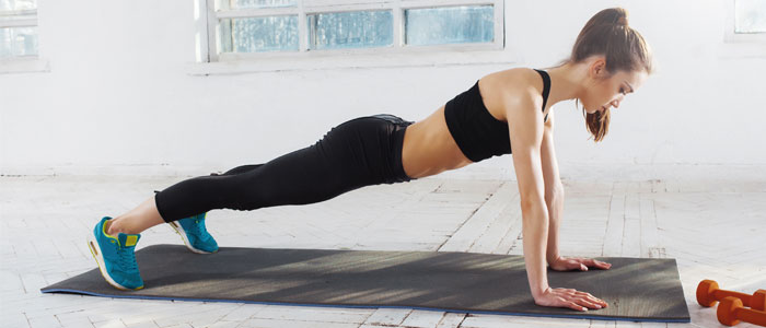woman doing bodyweight exercise
