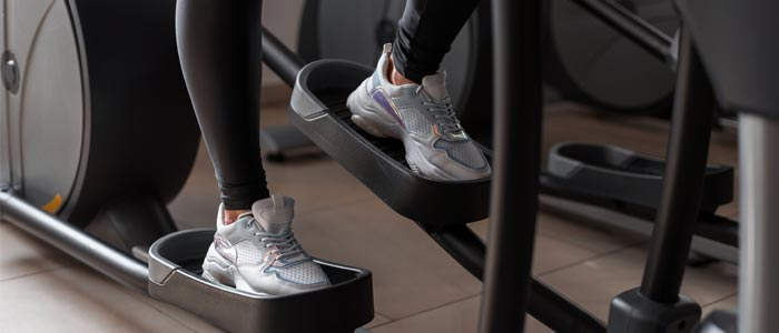 Close up of cross trainer