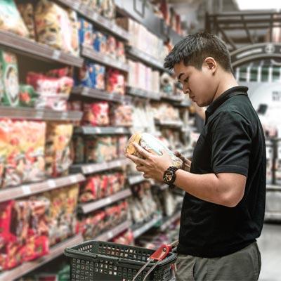 person choosing their snacks